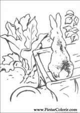 Pintar e Colorir Peter Rabbit - Desenho 007