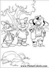 Pintar e Colorir Piggley Winks - Desenho 002
