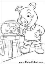 Pintar e Colorir Piggley Winks - Desenho 006