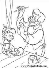 Pintar e Colorir Pinoquio - Desenho 004