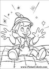 Pintar e Colorir Pinoquio - Desenho 005