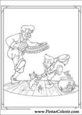 Pintar e Colorir Pinoquio - Desenho 007
