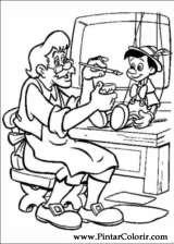 Pintar e Colorir Pinoquio - Desenho 008