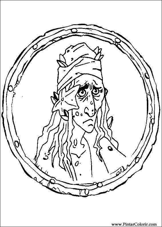 Dibujos para pintar y Color Piratas del Caribe - Imprimir Diseño 002