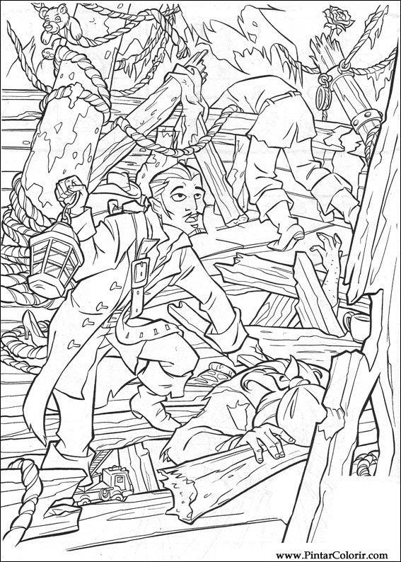 Zeichnungen Zu Malen Und Farbe Pirates Of The Caribbean