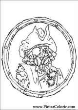 Pintar e Colorir Piratas Do Caribe - Desenho 005