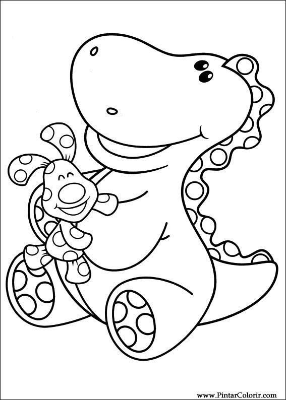 Dibujos para pintar y Color Azul pistas - Imprimir Diseño 011