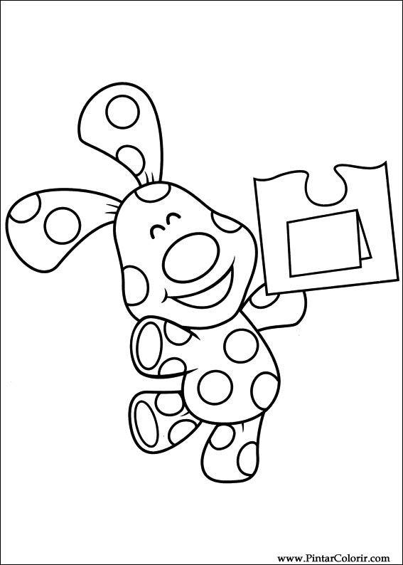 Dibujos para pintar y Color Azul pistas - Imprimir Diseño 033