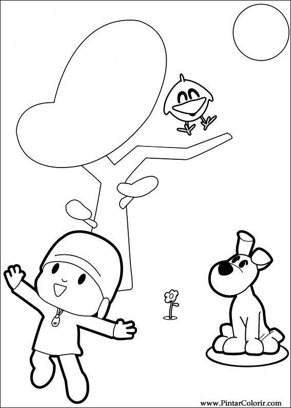 Dibujos para pintar y Color Pocoyo  Diseo de impresin 006