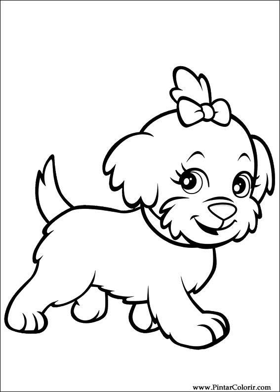 Famosos Desenhos Para Pintar e Colorir Polly Pocket - Imprimir Desenho 043 HQ73