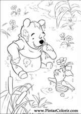 Pintar e Colorir Pooh - Desenho 005
