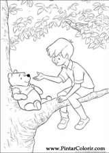 Pintar e Colorir Pooh - Desenho 006