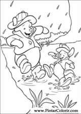Pintar e Colorir Pooh - Desenho 008