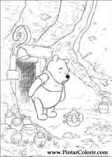 Pintar e Colorir Pooh - Desenho 016