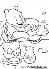 Pintar e Colorir Pooh - Desenho 017