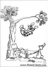 Pintar e Colorir Pooh - Desenho 052