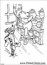 Pintar e Colorir Pooh - Desenho 060