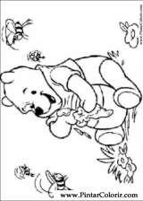 Pintar e Colorir Pooh - Desenho 070
