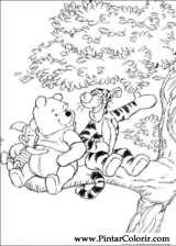 Pintar e Colorir Pooh - Desenho 085