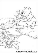 Pintar e Colorir Pooh - Desenho 104