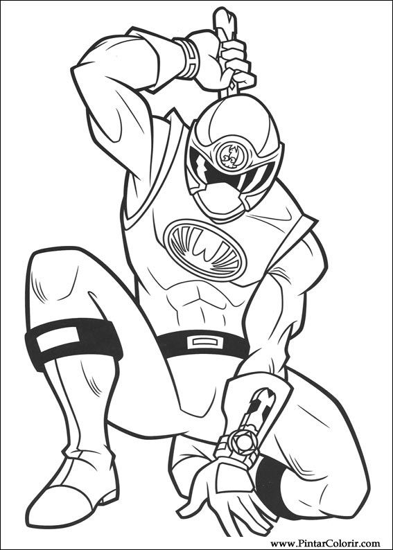 drawings to paint  u0026 colour power rangers
