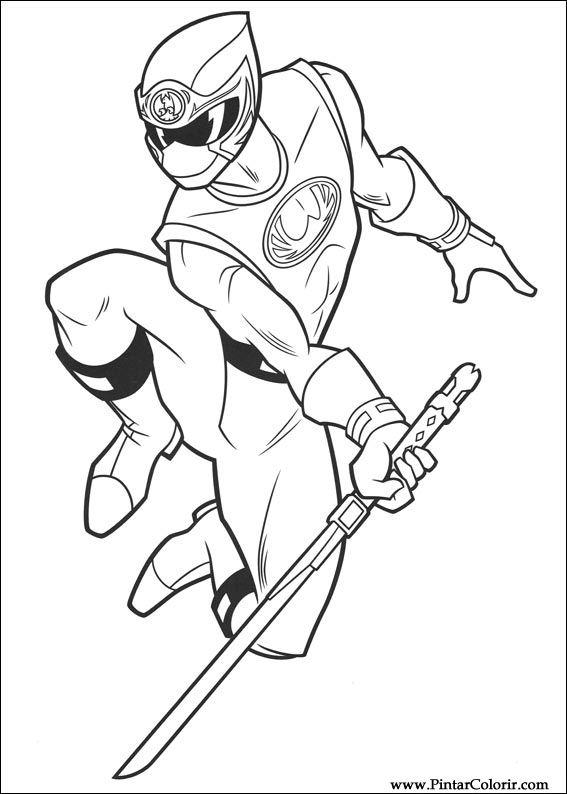 Drawings To Paint u0026 Colour Power Rangers - Print Design 003