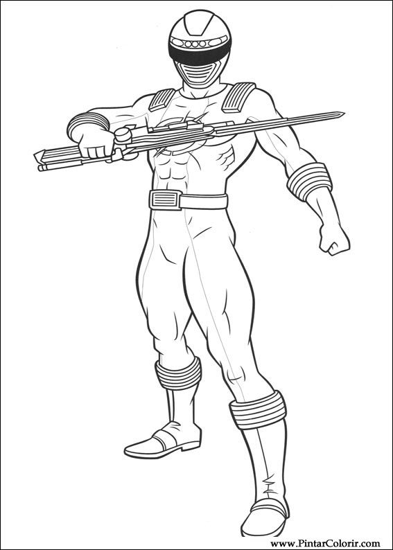 Drawings to paint colour power rangers print design 010 for Power rangers coloring pages