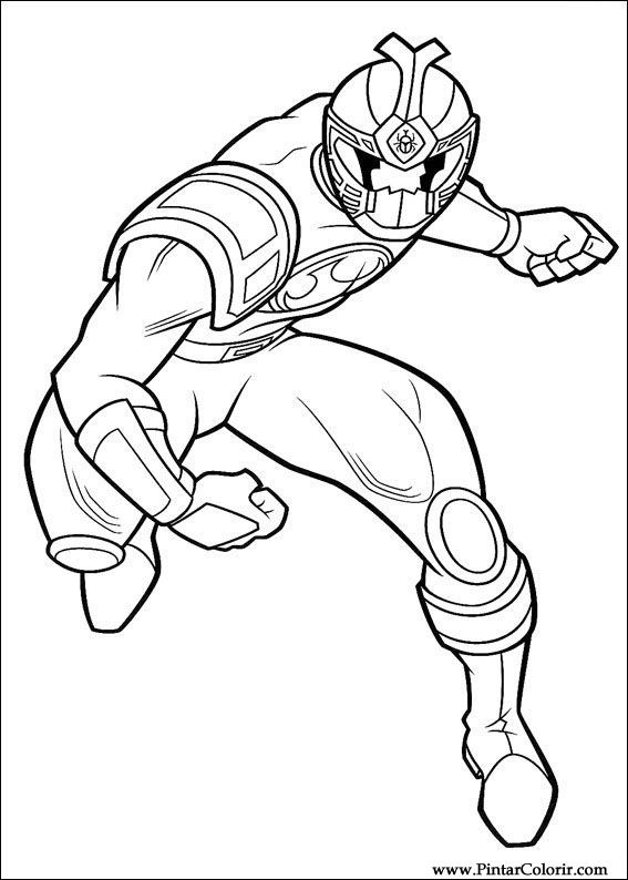 Drawings To Paint  Colour Power Rangers  Print Design 048