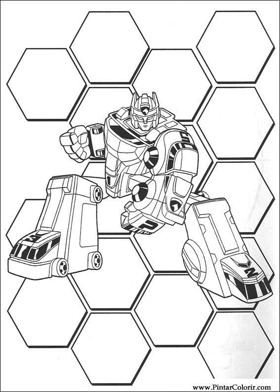 Pintar e Colorir Power Rangers - Desenho 054
