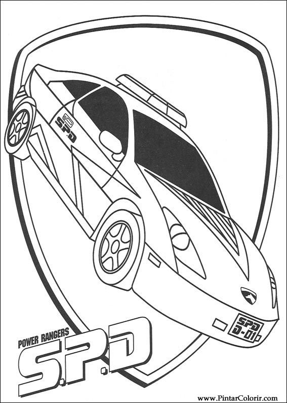Drawings To Paint amp Colour Power Rangers Print Design 060
