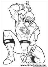 Pintar e Colorir Power Rangers - Desenho 001