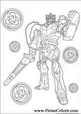 Pintar e Colorir Power Rangers - Desenho 004
