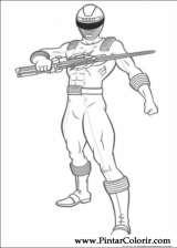 Pintar e Colorir Power Rangers - Desenho 010