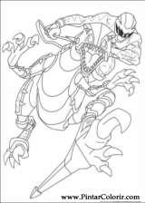 Pintar e Colorir Power Rangers - Desenho 012