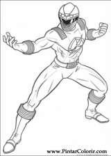 Pintar e Colorir Power Rangers - Desenho 013