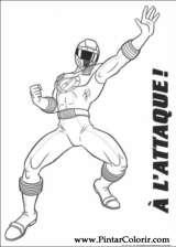 Pintar e Colorir Power Rangers - Desenho 018