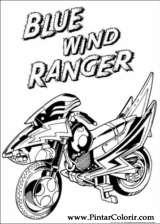 Pintar e Colorir Power Rangers - Desenho 027