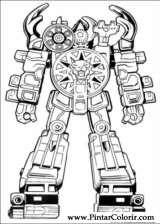 Pintar e Colorir Power Rangers - Desenho 028