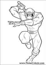 Pintar e Colorir Power Rangers - Desenho 032