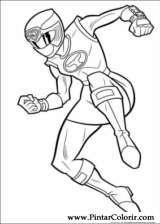 Pintar e Colorir Power Rangers - Desenho 034