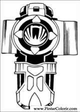 Pintar e Colorir Power Rangers - Desenho 035