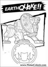 Pintar e Colorir Power Rangers - Desenho 039