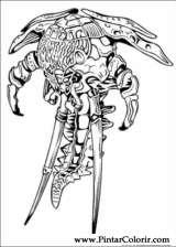 Pintar e Colorir Power Rangers - Desenho 042