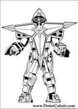 Pintar e Colorir Power Rangers - Desenho 043
