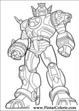 Drawings To Paint  Colour Power Rangers  Print Design 044