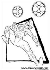 Pintar e Colorir Power Rangers - Desenho 045