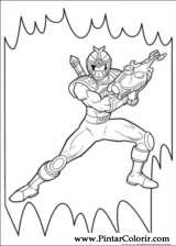 Pintar e Colorir Power Rangers - Desenho 049