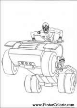 Pintar e Colorir Power Rangers - Desenho 057