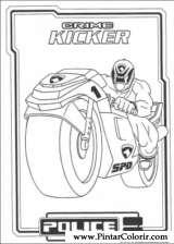 Pintar e Colorir Power Rangers - Desenho 059