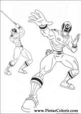 Pintar e Colorir Power Rangers - Desenho 062